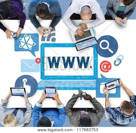 World Wide Web Internet Online Illustration Concept