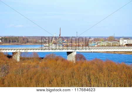 Surroundings Of Veliky Novgorod, Russia, Water Area Of Volkhov River
