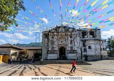Festive Church Near Antigua, Guatemala