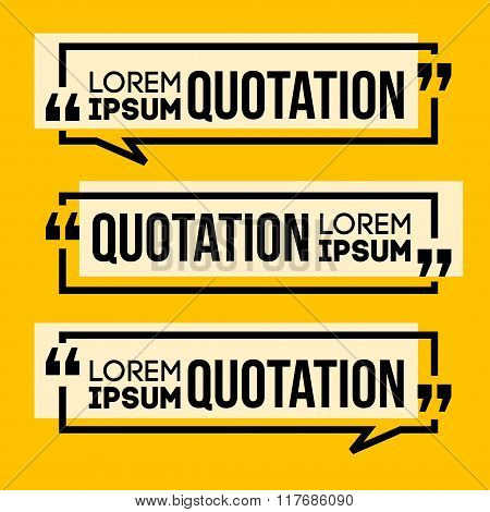 Quotation Speech Banner