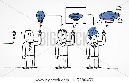 Teamwork creative concept