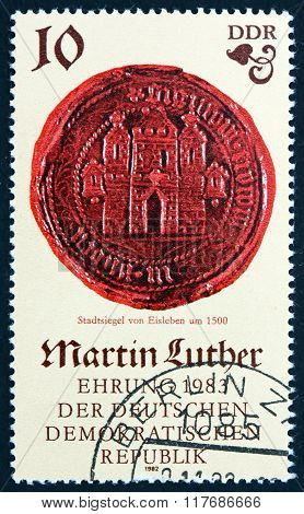 Postage Stamp Germany 1982 Seal Of Eisleben