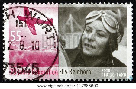 Postage Stamp Germany 2010 Elly Beinhorn-rosemeyer, German Pilot
