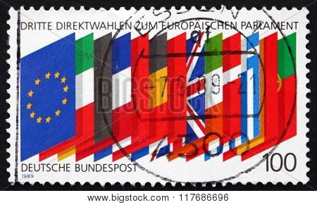 Postage Stamp Germany 1989 Flags Of Member Nations