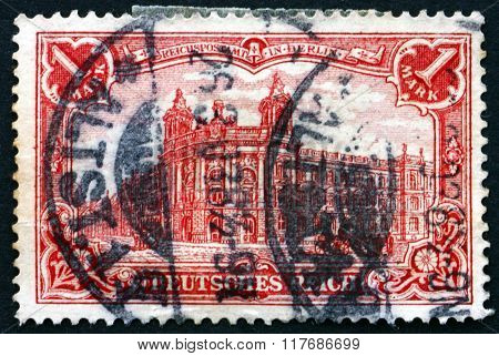 Postage Stamp Germany 1900 General Post Office In Berlin
