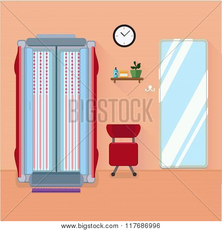Tanning Salon Vector Illustration