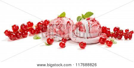Ice Cream Made Of Redcurrant