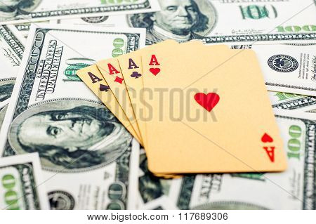 Gold poker cards