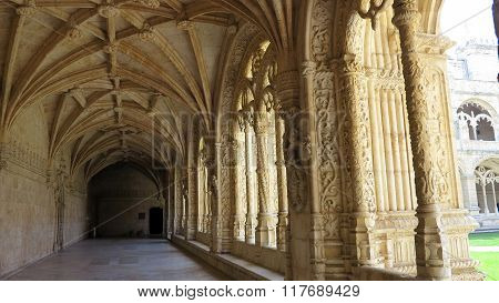 view of hieronymites monastery in lisbon portugal