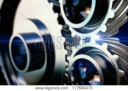Close-up Gear Metal Wheels