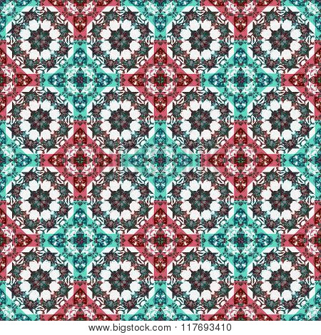 Luxury Ornate Check Seamless Pattern