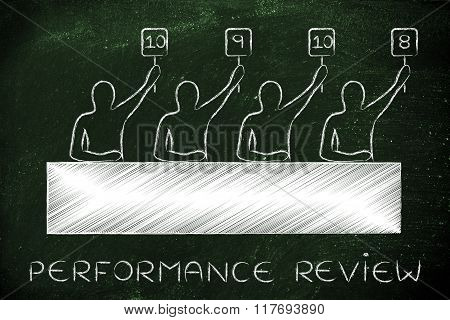 Judges Giving A Good Score, Text Performance Review