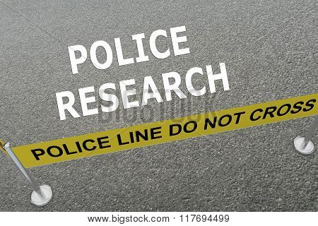 Police Research Concept