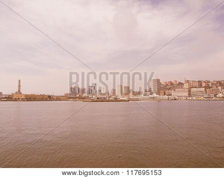 Harbour Genoa Italy Vintage