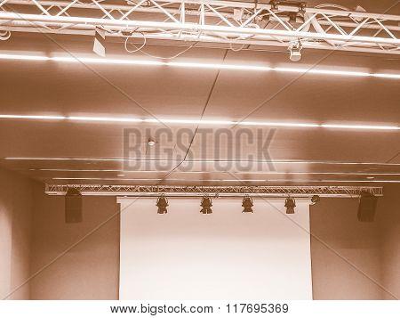 Stage Lights And Speakers Vintage