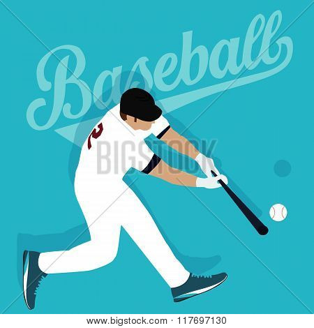baseball player hit ball american sport athlete