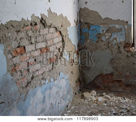 The Walls Of An Old Abandoned Building