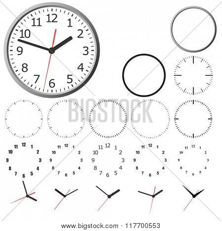 Set design layout clock dial.