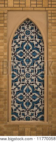 Islamic decorative pattern design on the wall.