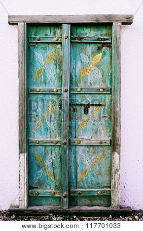 An old rustic islamic door frame.