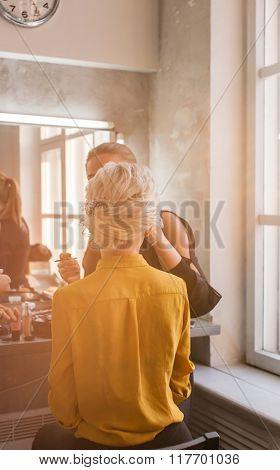 women in the beauty salon