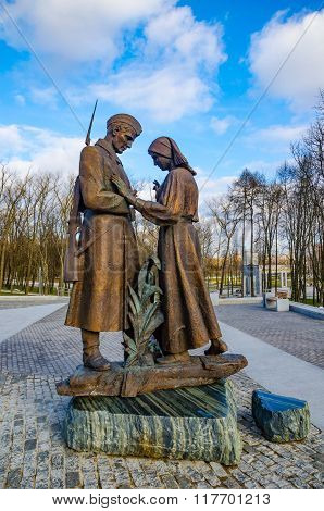 Minsk Monument - A Mother Seeing Off Her Son To War