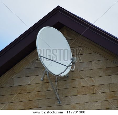 Satellite Dish On The Front Of The House