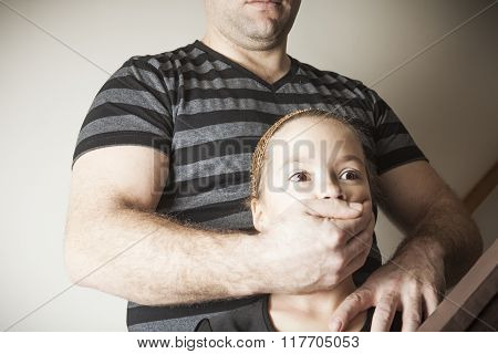 father abused his young daughter at home