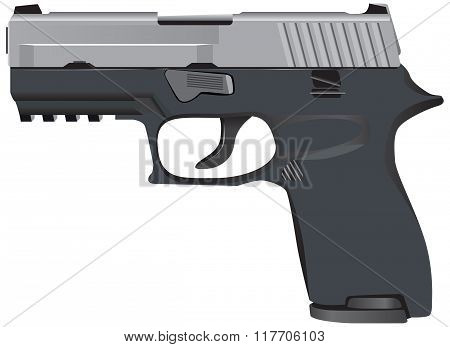 Model Of Tactical Pistol