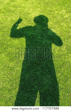 Shadow On The Green Soccer Field