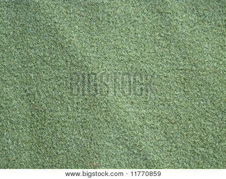 green wool fabric