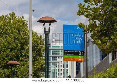 Flinders Street Station Sign