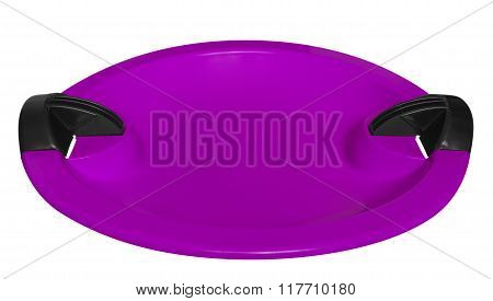 Toboggan Isolated On The White - Violet