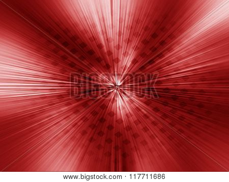 Abstract Mosaic Red Background, Radial Blur.