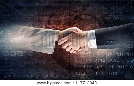Successful partnership concept
