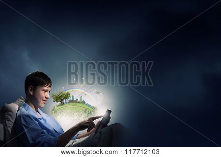 Surfing the Internet before sleep