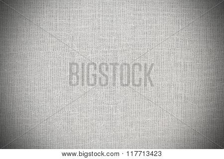 Woven white warp background with vignette