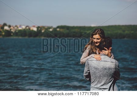 couple at the shore