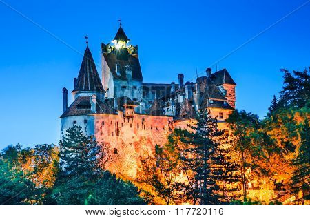 Bran Castle Romania. Medieval fortification in Transylvania known for Dracula myth. Brasov County Romania.