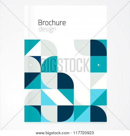 Vector abstract brochure, report design template