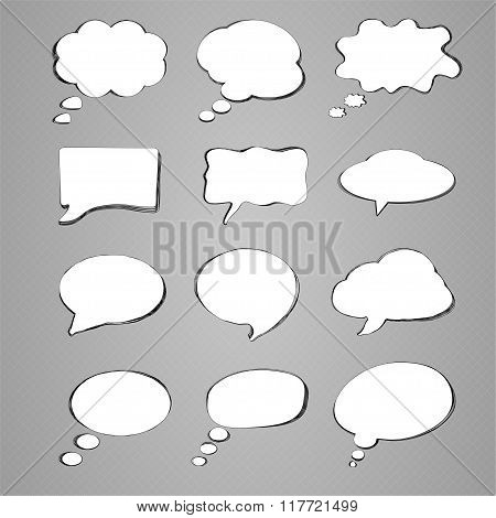 Collection Of Speech Bubbles