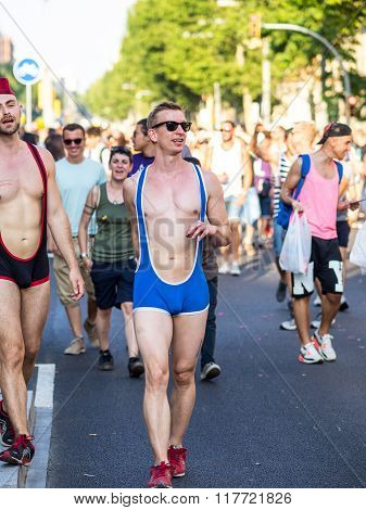 On The Barcelona Pride Parade