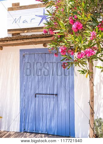 FORMENTERA SPAIN - MAY 27 2015 - Traditional shop seen in Formentera island Spain.