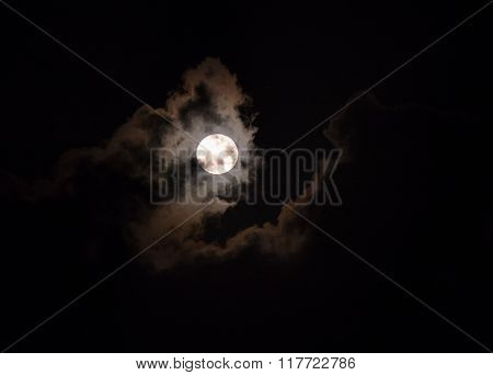 Dramatic moonscape