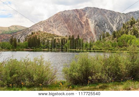 Lake at Mammoth Lakes area, California