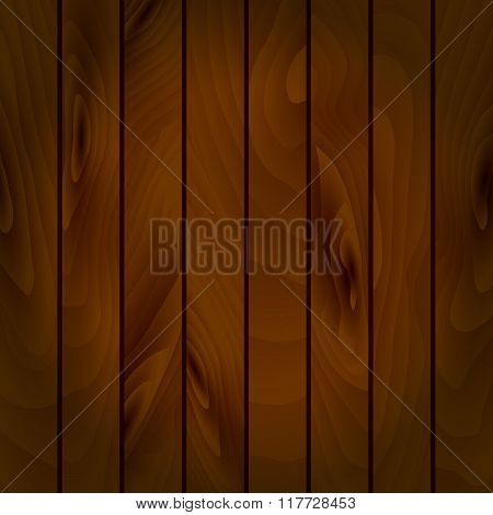 Realistic Vector Texture Of Wooden Boards.