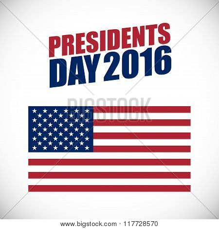 Presidents Day holiday vector banner.