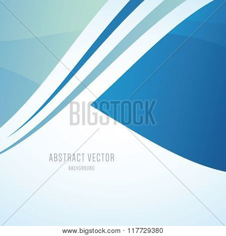 Abstract blue modern wave vector background