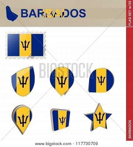 Barbados Flag Set, Flag Set #125
