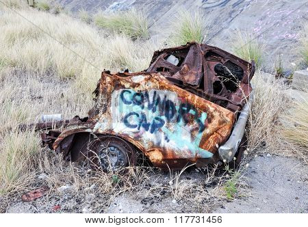 Tagged Car Chassis: Abandoned